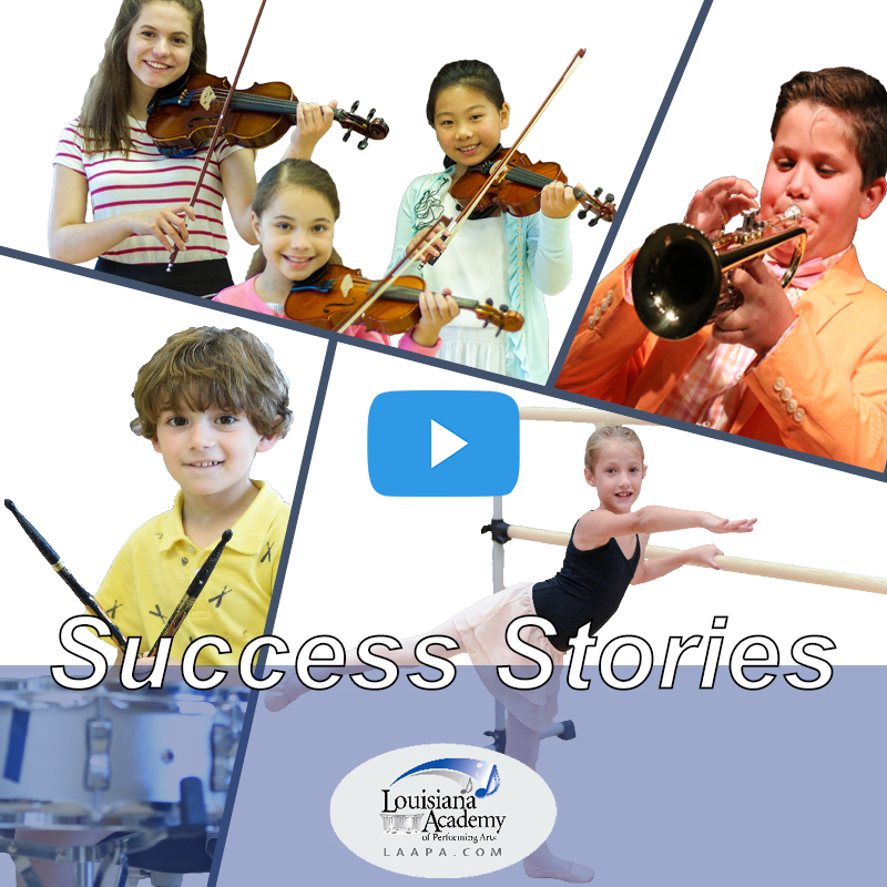 Watch and Listen as our students discuss why they love their music lessons and dance classes at LAAPA in Mandeville and New Orleans, LA.