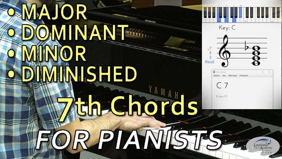 How to Play 7th chords on the piano